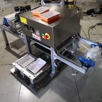 上海帝幸新款全自动双盒鲜肉封口机款式定做塑料盒