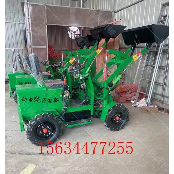 农用电动装载机 小型电动铲雪机 纯电动推土机_图片